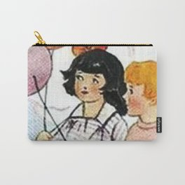 Vintage Children with Balloons Carry-All Pouch