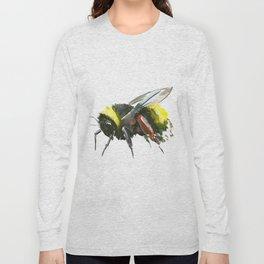 Bumblebee, minimalist bee honey making art, design black yellow Long Sleeve T-shirt