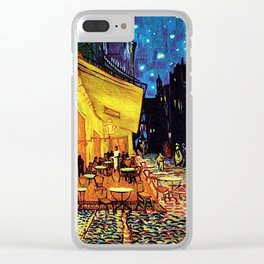 Café Terrace at Night Painting by Vincent van Gogh Clear iPhone Case