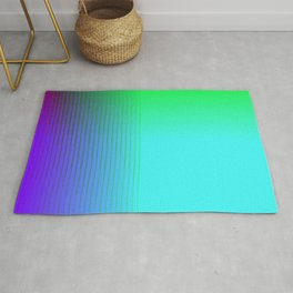 Cyan Green Purple Red Blue Black ombre rows and column texture Rug