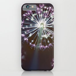Fireworks. Dark Floral Abstract iPhone Case