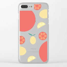 Oranges and Lemons Clear iPhone Case