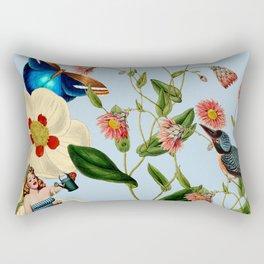 Big Flowers dream  blue Rectangular Pillow