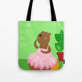 Bear in tutu Tote Bag