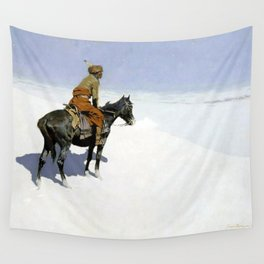 """Frederic Remington Western Art """"The Scout"""" Wall Tapestry"""