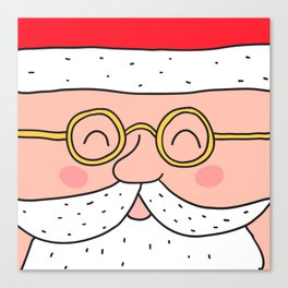 Happy Santa Claus face. Merry Christmas and Happy New Year! Canvas Print
