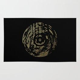 Gold Disc Rug