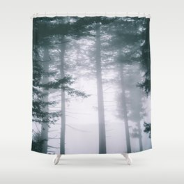 Moody Forest II Shower Curtain