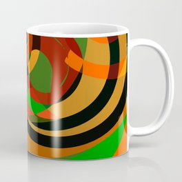 Graffiti design cool abstract mottled pattern of red and green Coffee Mug