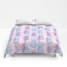 PINEAPPLE PATTERN IN PINK AND BLUE Comforters