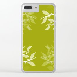 Mistletoe Pattern Clear iPhone Case