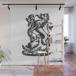Anchor and rampant lion. Wall Mural