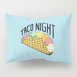 Ice Cream Taco Night Pillow Sham