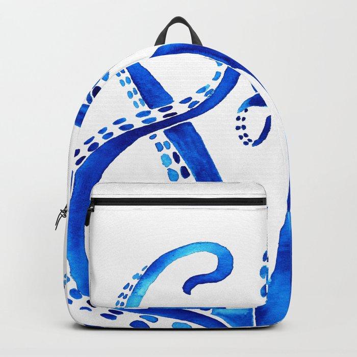 Blue Octopus Backpack