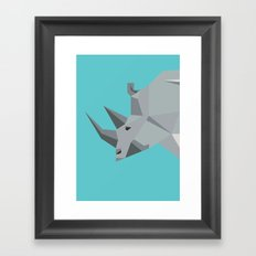 Rhino - tessellated Framed Art Print