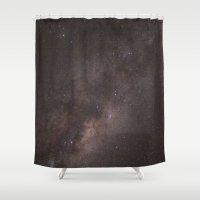 night sky Shower Curtains featuring Night Sky by Brandon La'akea