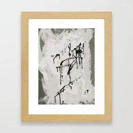 murder by ink. Framed Art Print