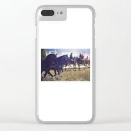 Feira da Golega 2015 3 horses 35 mm Clear iPhone Case