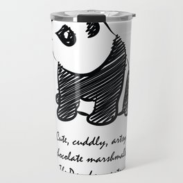 Gothic Panda  Travel Mug