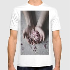 The wild flowers grows here Mens Fitted Tee White MEDIUM
