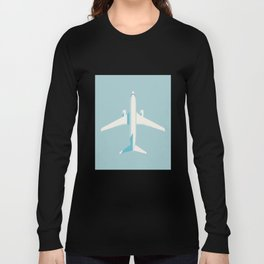 737 Passenger Jet Airliner Aircraft - Sky Long Sleeve T-shirt