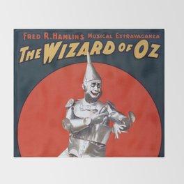 The Tin Man Throw Blanket