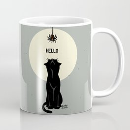 Spider and cat Coffee Mug
