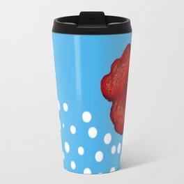 Coquelicot et ciel Travel Mug