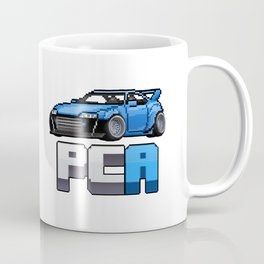 Pixel Car Art Logo Coffee Mug