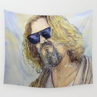 the dude Wall Tapestries featuring The Dude by LucioL