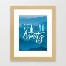 Reading Awaits - Blue Mountains Framed Art Print