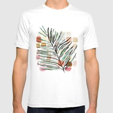 Darling, Through This Way: Under The Leaves MEDIUM Mens Fitted Tee White