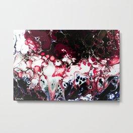WINE & WHITE Metal Print