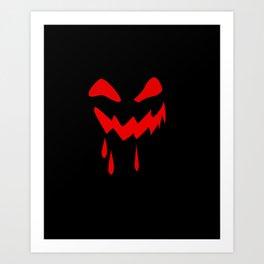 Halloween laughs Art Print