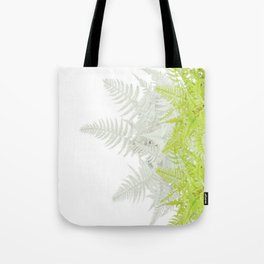 PALE GREEN & GREY ABSTRACT WOODLAND FERNS ART Tote Bag
