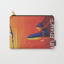 Vintage Mid Century Travel Poster Air France Jet African Islamic Mosque Monochrome Orange Sunset Carry-All Pouch