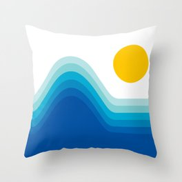 Ocean Horizon Throw Pillow