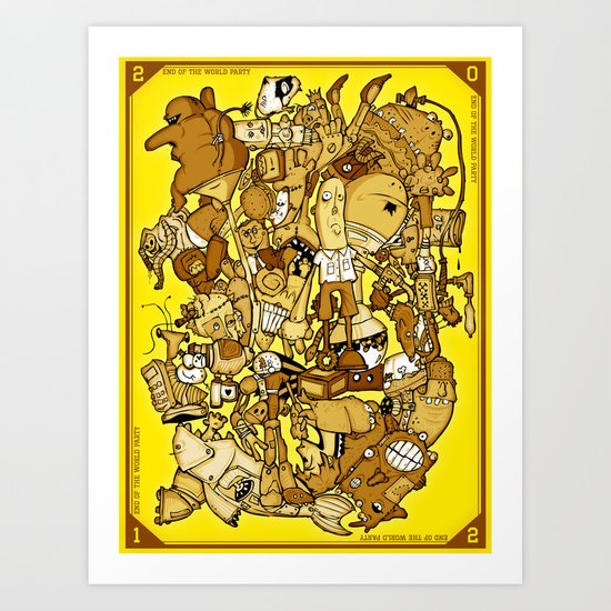 end of the world party (commemorative edition) Art Print