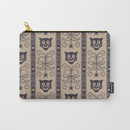 Happy halloween black cat and web with spider pattern Carry-All Pouch