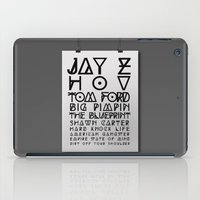 jay z iPad Cases featuring Eye Test - JAY Z by Studio Samantha