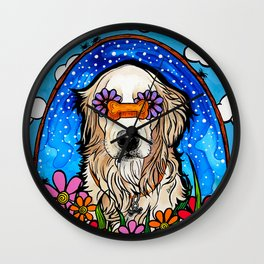 Summer the Golden Retriever Wall Clock