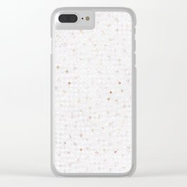 Elegant chic white gold modern sequins Clear iPhone Case