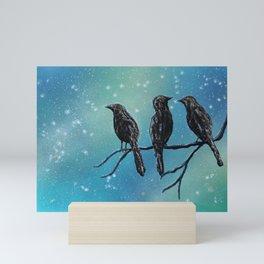 Birds Silhouette Mini Art Print