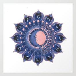 Zodiac Mandala Art Print