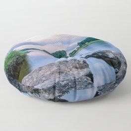 Long Exposure Photo of The River Tay in Perth Scotland Floor Pillow