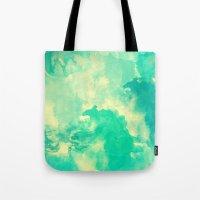 underwater Tote Bags featuring Underwater by Galaxy Eyes