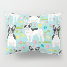 French Bulldog easter spring dog breed gifts pure breed frenchies black and white coat Pillow Sham