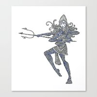 shiva Canvas Prints featuring Shiva by KittenDCute
