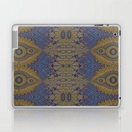 GoldBlue Mandalic Pattern 1 Laptop & iPad Skin