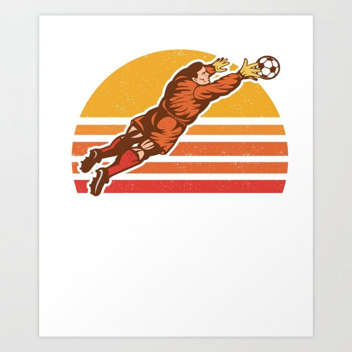 Vintage Retro Soccer Goalkeeper Goalie Soccer Gift Art Print by mintedfresh